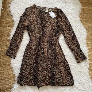 H&M NWT Leoprd Print Dress SIZE 8